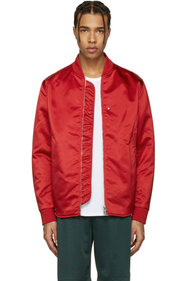 Acne Studios - Red Mylon Bomber Jacket