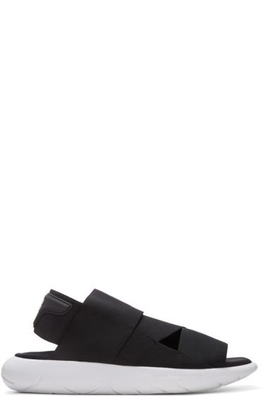 Y-3 - Black Qasa Sandals