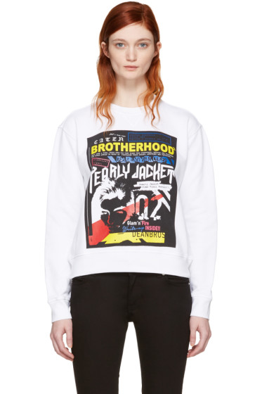 Dsquared2 - White Printed Pullover