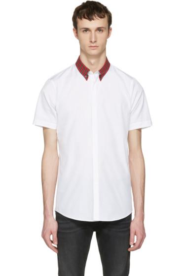 Dsquared2 - White Check Collar Shirt