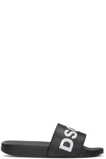 Dsquared2 - Black Logo Slide Sandals