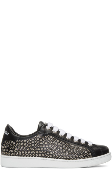 Dsquared2 - Black Eyelet Sneakers