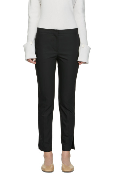 Helmut Lang - Black Polished Ankle Trousers