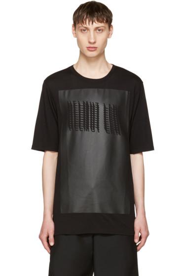 Helmut Lang - Black Glitch Logo T-Shirt