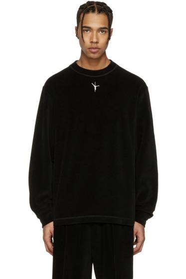 Alexander Wang - Black Velour T-Shirt