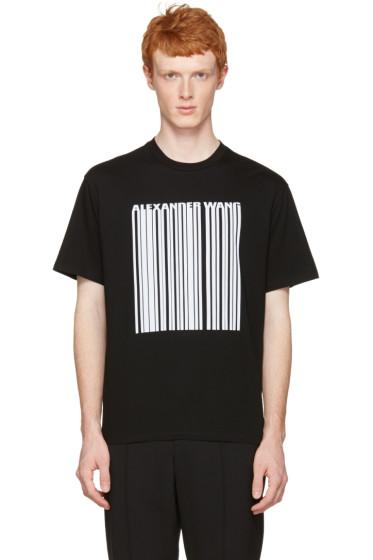 Alexander Wang - Black Barcode Logo T-Shirt