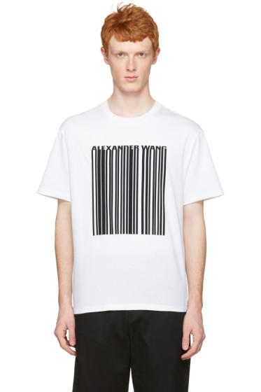 Alexander Wang - White Barcode Logo T-Shirt