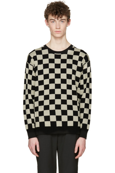Marc Jacobs - Black Check Distressed Sweater
