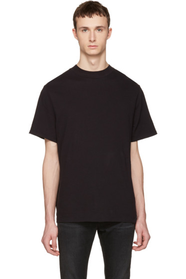 T by Alexander Wang - Black High-Neck T-Shirt