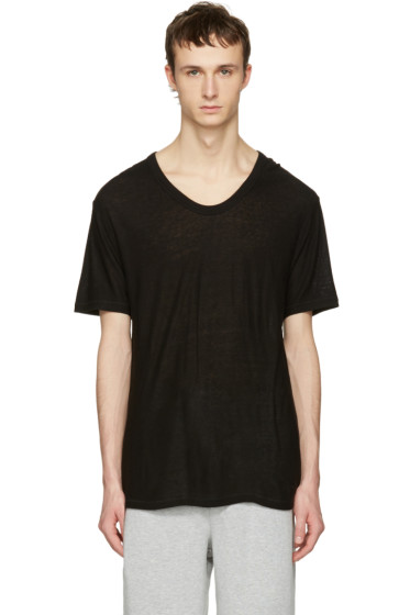 T by Alexander Wang - Black Silk-Blend T-Shirt