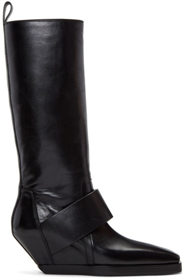 Rick Owens - Black Pull On Boots
