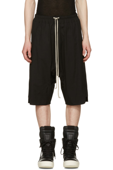 Rick Owens - Black Basket Swinger Shorts