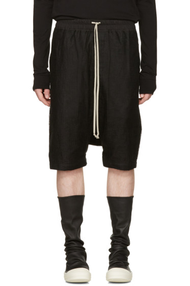 Rick Owens - Black Mesh Ricks Pods Shorts