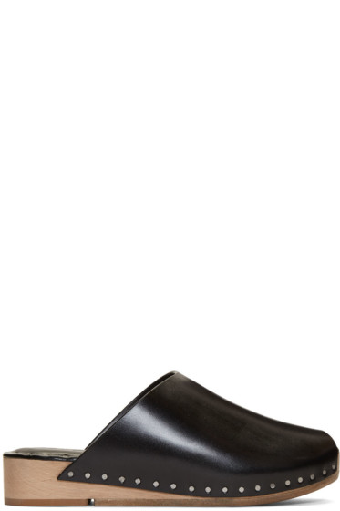 Rick Owens - Black Island Sabot Sandals