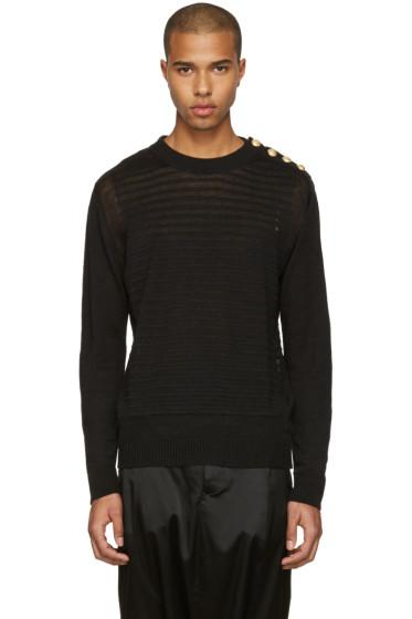 Balmain - Black Relief Sweater