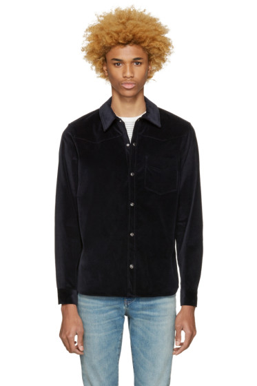 A.P.C. - Navy Corduroy Billy Shirt