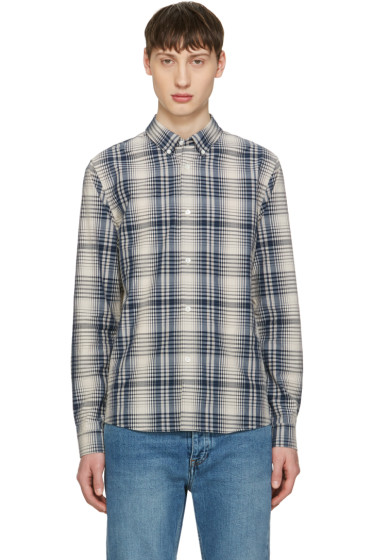 A.P.C. - Beige Button Down Check Shirt