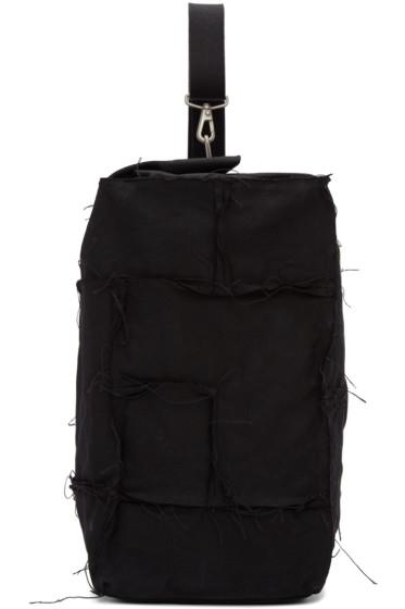 Junya Watanabe - Black Canvas One Shoulder Backpack