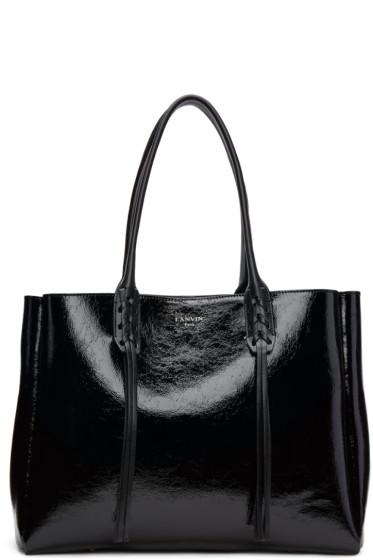 Lanvin - Black Patent Small Shopper Tote