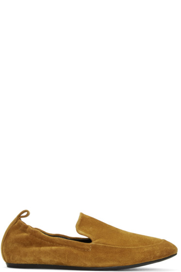 Lanvin - Tan Suede Classic Loafers