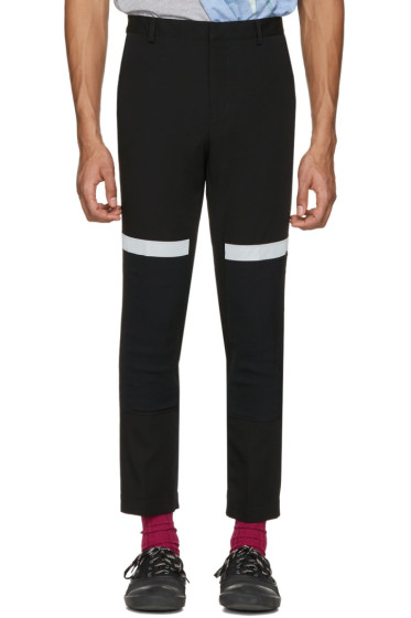 Lanvin - Black Reflective Band Trousers