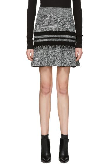 Alexander McQueen - Black & Ivory Ruffled Miniskirt