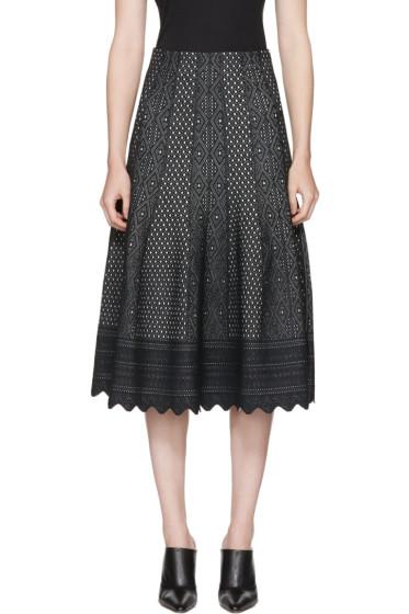 Alexander McQueen - Black Jacquard Skirt
