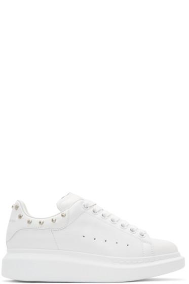 Alexander McQueen - White Studded Oversized Sneakers