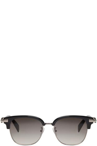 Alexander McQueen - Black Classic Club Sunglasses