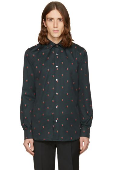 Paul Smith - Black Strawberry Skull Shirt
