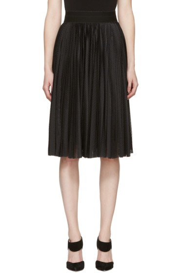 Givenchy - Black Technical Mesh Pleated Skirt