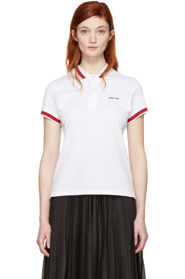Givenchy - White Logo Polo