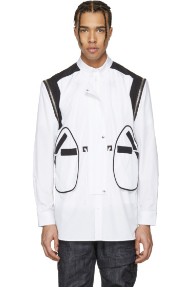 Givenchy - White Shoulder Zip Shirt