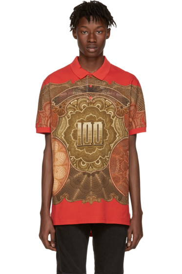 Givenchy - Red Money Polo