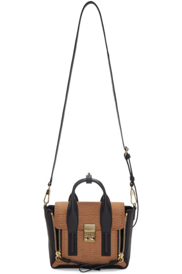 3.1 Phillip Lim - Black & Tan Mini Pashli Satchel
