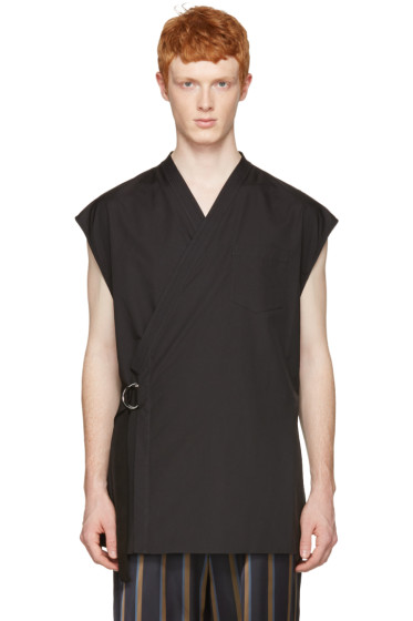3.1 Phillip Lim - Black Kimono Vest