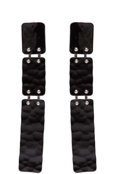 Proenza Schouler - Black Long Hammered Earrings