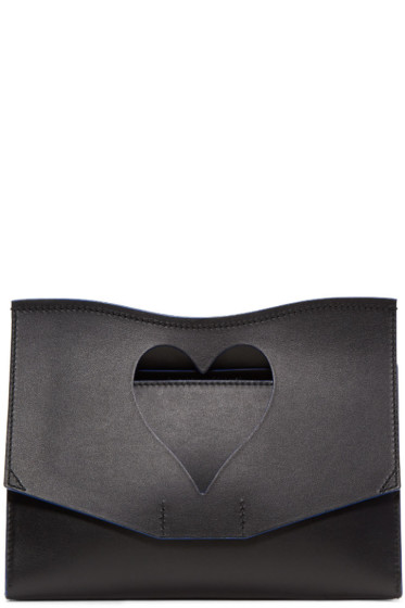 Proenza Schouler - Black Medium Heart Cut-Out Curl Clutch