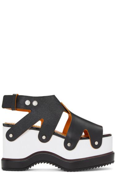 Proenza Schouler - Black & White Flatform Sandals