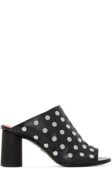 Proenza Schouler - Black Studded Panda Sandals
