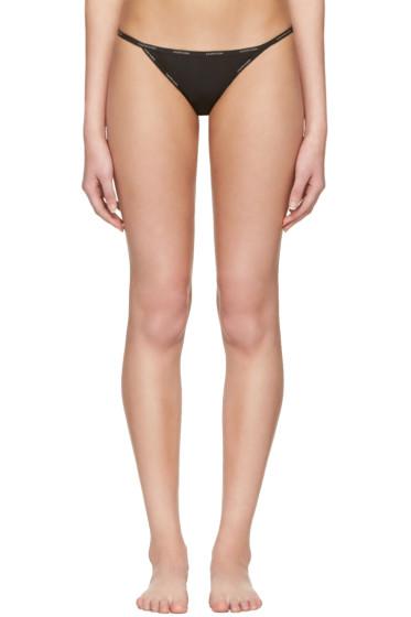 Calvin Klein Underwear - Black String Bikini Briefs