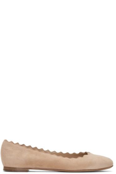 Chloé - Beige Suede Lauren Ballerina Flats