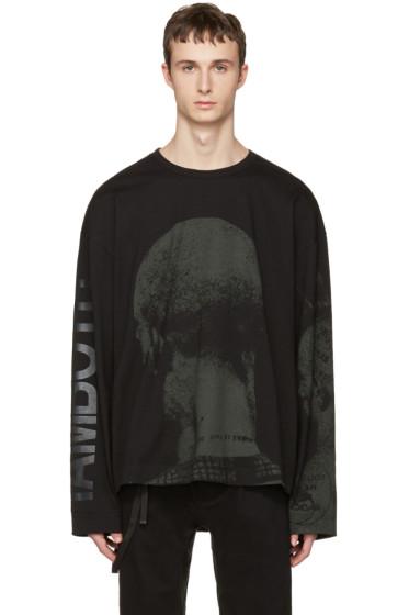 Juun.J - ブラック グラフィック T シャツ