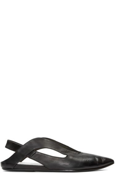 Marsèll - Black Open Heel Stuzzicadente Ballerina Flats