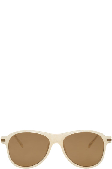 Dries Van Noten - Ivory Aviator Sunglasses