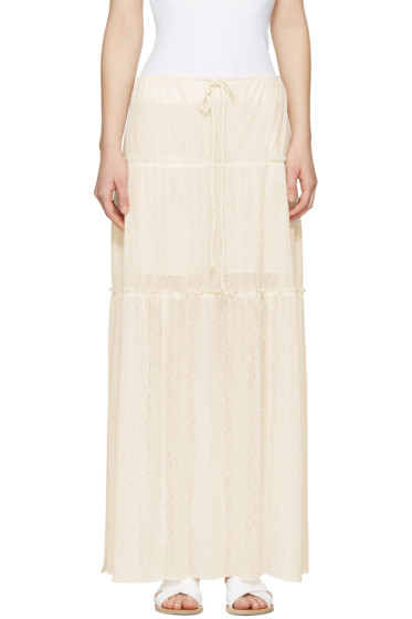 See by Chloé - White Long Gauze Skirt