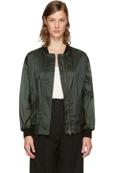 Burberry - Green Lightweight Bomber Jacket