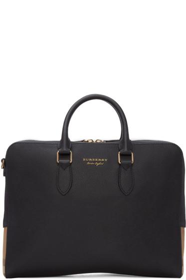 Burberry - Black Leather Horton Briefcase