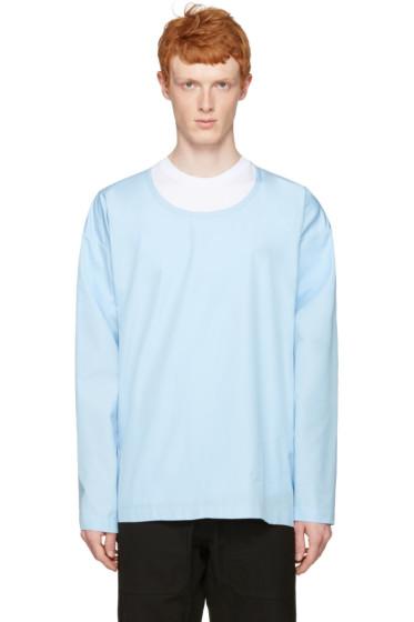 Marni - Blue Cotton Velcro Shirt