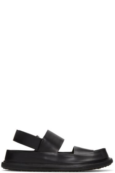 Marni - Black Leather Straps Sandals